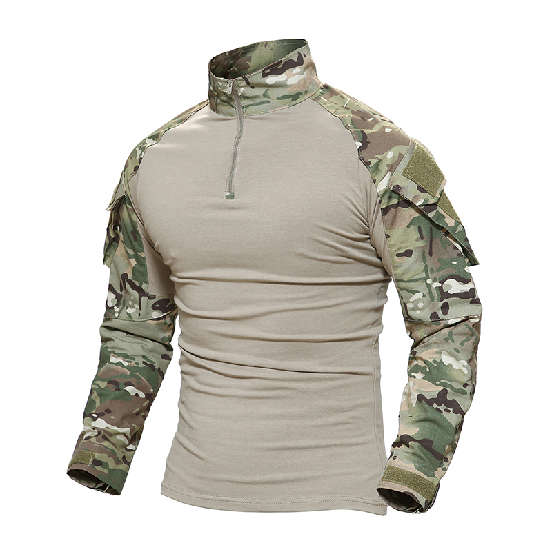 Tactical T-shirt Men Military Camouflage T Shirt Long Sleeve T-shirts For Fishing Hunting Clothes Tee Shirts