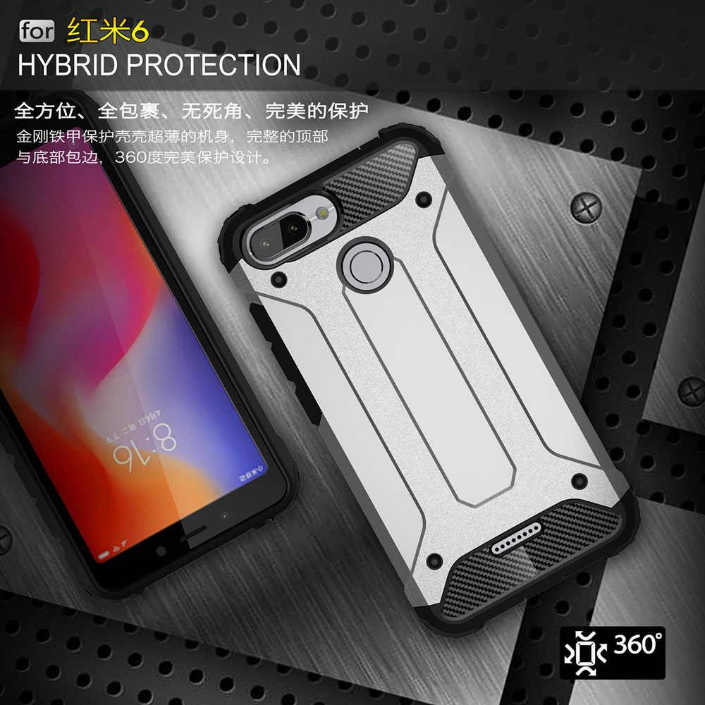Chống sốc Giáp Coque Bao 5.45For Xiaomi Redmi 6 Ốp Lưng Cho Xiaomi Redmi 6 Redmi6 Lưng Điện Thoại Coque Cover