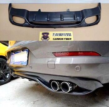 Fibre de carbone + FRP diffuseur arrière pare-chocs garde protecteur plaque de protection pare-chocs couverture pour Volkswagen Passat CC berline 4 portes 2009-2016