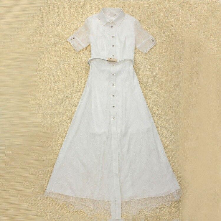 2018 vente Vadim femmes robe haut de gamme Code Explosion couleur Pure longue dentelle deux pièces de robe grand pendule Type A remplacement.