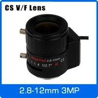 3 Megapixel DC AUTO IRIS Varifocale CCTV Lens 2.8-12mm CS Mount Voor 720 P 1080 P Doos Camera IP/AHD Camera Gratis Verzending