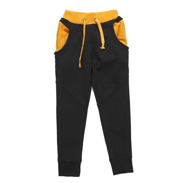 Muchachos pantalones de harén moda estilo coreano 100% algodón para niños pantalones casuales larga duración de moda cintura elástica