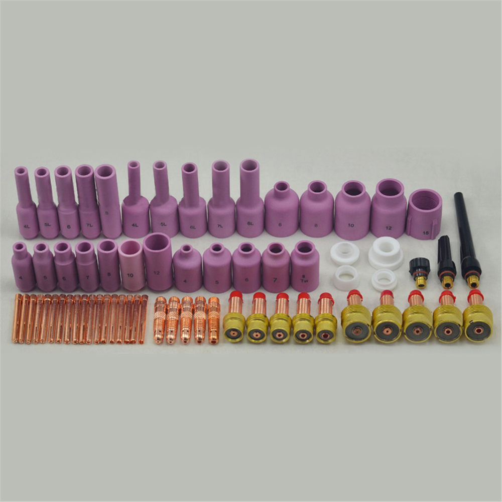 TIG Gas Lens KIT Tig Torch Welding Alumina Nozzle Collet Body Back Cap Collet Body Fit