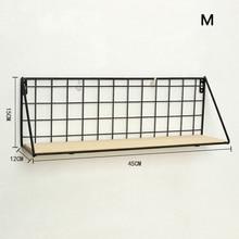 Металлическая деревянная настенная подвесная полка современный простой Лофт общежития Пробивка полка для хранения MYDING