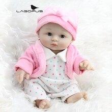 8 Inch Full Body Silicone Soft Vinyl Lifelike Baby Dolls 20cm Handmade Small Toys for Festival Decoration