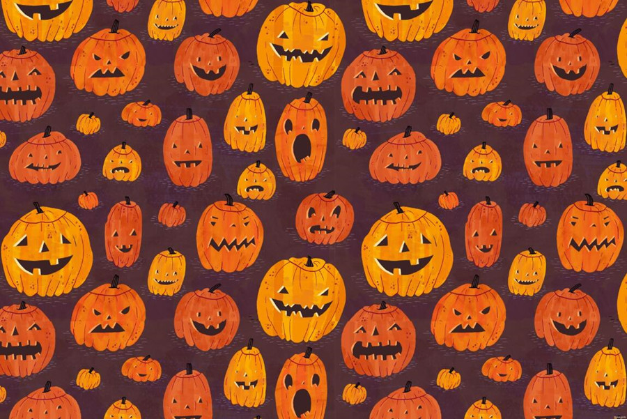 custom pumpkin halloween texture wallpaper restaurant wallpaperbar living room sofa tv wall bedroom kitchen 3d wall mural - Halloween Room