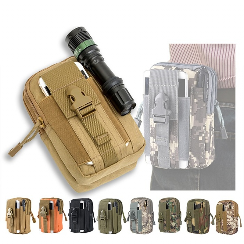 Men Outdoor Tactical Molle Pouch Belt Waist Pack Bag Phone Case Military Camping Climbing Running Hunting Small EDC Bags