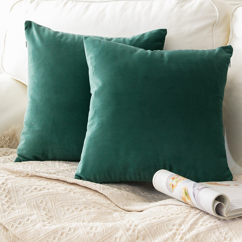 Emerald Green Velvet Pillow Case