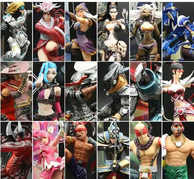 Game Dolls LOL Yasuo Arcade Hecarim Zed EZ Blind Monk Riven Sona Model PVC Toy Action Figure Decoration For Collection Gift