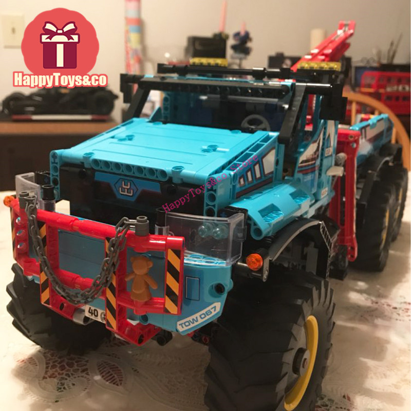 Legoing Technic Series 42070 1912Pcs All Terrain 6X6 Remote Control Truck toys For Children Gift 20056 Building Blocks Set lepins 1912pcs technic series the ultimate all terrain 6x6 remote control truck building blocks bricks toys model figures gift