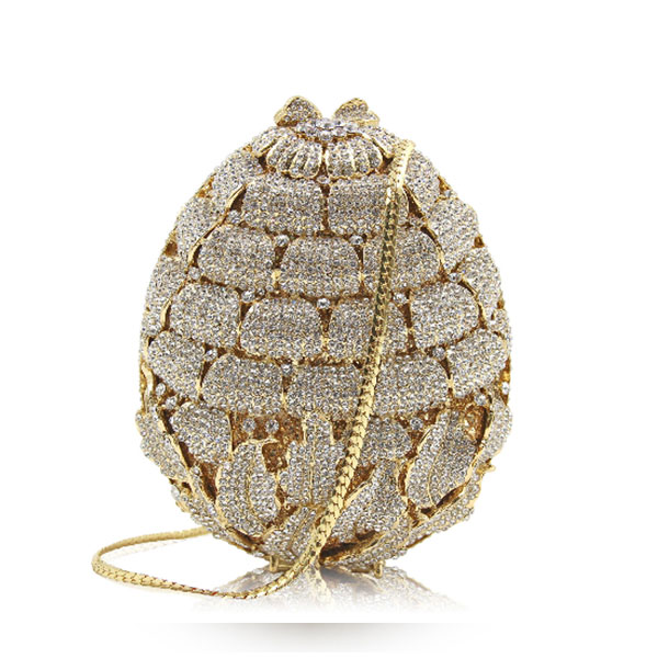 Women oval Leaves gold crystal Evening Clutch purse Ladies silver Evening Bags Female Party Wedding bridal Clutches Bag wallet 7 color oval gold ab silver pink luxury crystal evening bag party clutch purse women wedding handcraft banquet bag customized