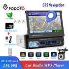 Podofo 1din Autoradio GPS Navigation 7 HD écran rétractable MP5 lecteur Bluetooth stéréo miroir lien Autoradio caméra de recul - 1