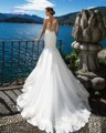 Dreagel New Arrival Romantic Scoop Neckline Princess Sheath Wedding Dress 2017 Glamorous Appliques Bride Dress Vestidos de Noiva