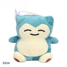 High quality Pikachu Soft Plush Doll Kids Children s Toys Gifts 14 cm Snorlax Free shipping