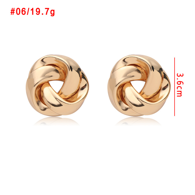 2020 Fashion Classic Gold Color Twisted Love Knot Stud Earrings For Women Simple Geometric Small Earrings Wedding Bridal Jewelry