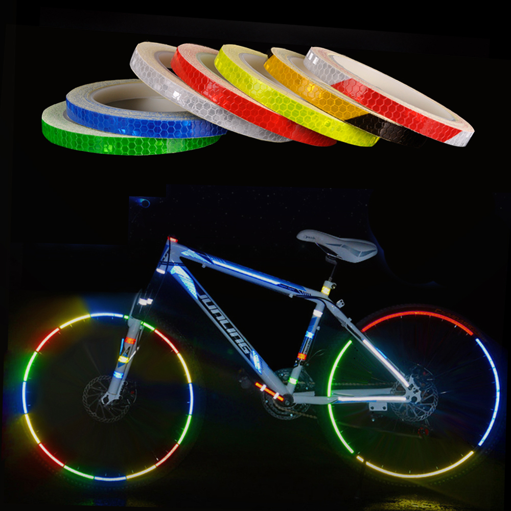 Added Safety For Any Bicycle or Scooter! BMX Bike 4 Piece Safety Reflector Set