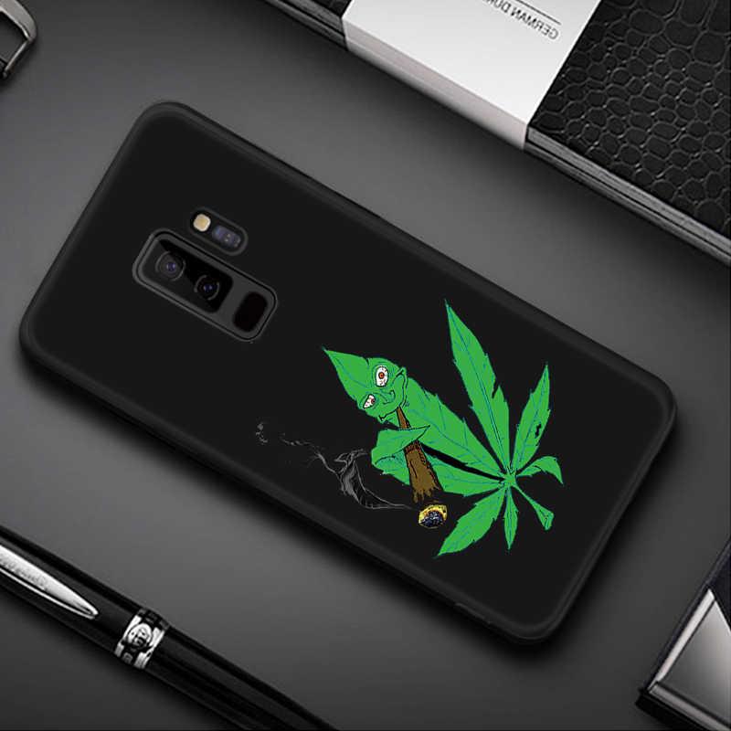 Desen samsung kılıfı Galaxy S8 S9 Artı Not 8 9 A8 A6 Artı 2018 A5 A7 2017 Siyah Mat Kapak samsung 10 J4 J6 A9 S10 S10