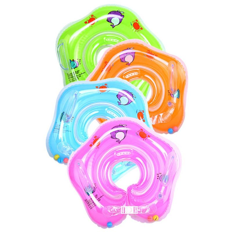 Swimming Baby Accessories Neck Ring Tube Safety Infant Float Circle for Bathing Inflatable Flamingo Inflatable Water Dropshiping in Accessories from Mother Kids