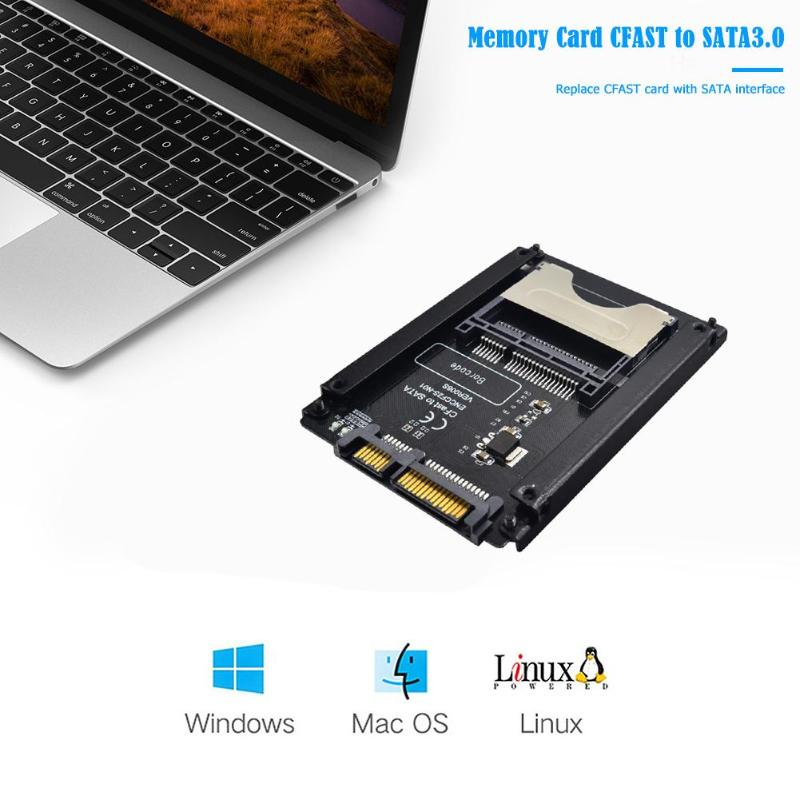 SATA Computer 22 Pin  Hard Disk Case CFAST to SATA 3.0 HDD Adapter Card  CFAST memory Card Reader industrial equipment test