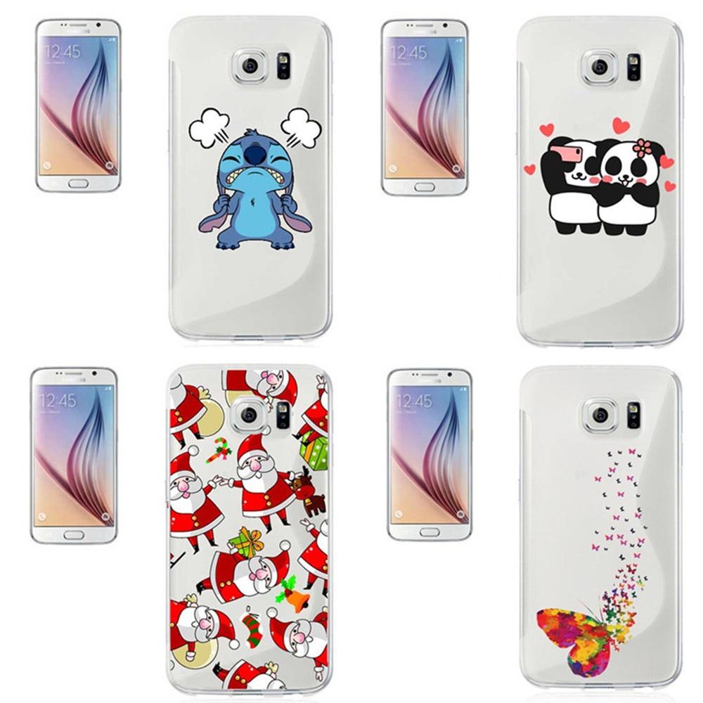 Unicorn butterfly art Christmas panda Minions Selfie stitch Hard Cases For Samsung S3 S4 S5 mini S6 S7 edge Plus Note 2 3 4 5