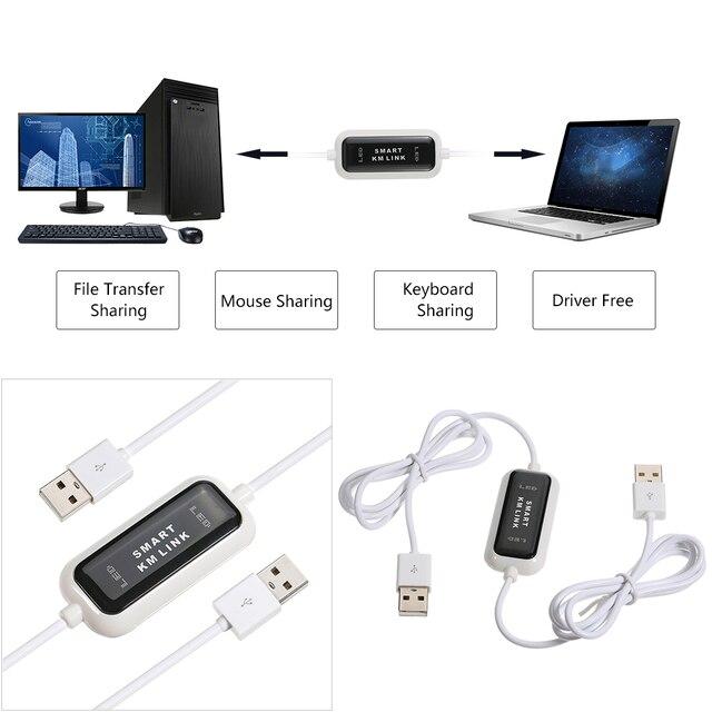 Cable de enlace de KM enlace teclado con Cable Mouse 2 puerto USB interruptor de archivo de transferencia de datos compartir enlace de Cable Sata a Usb