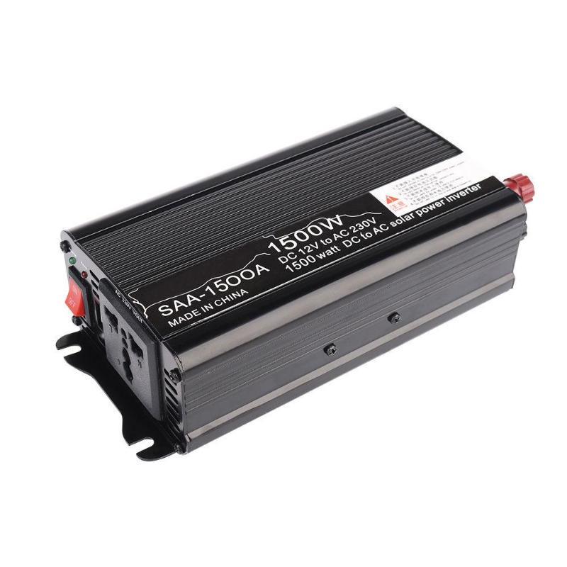VODOOL Car Inverters 3000W Peak Modified Sine Wave Car Power Inverter 50Hz DC 12V/24V to AC 220V Charger Converter Black