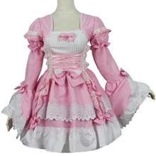 Cosplay Princess Dress Lolita Rode Evening Gown Dinner Coat Skirt Maid Costume