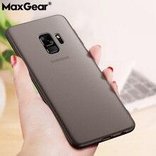 Original caja mate del teléfono para Samsung Galaxy S8 S9 Plus Ultra fino transparente PC contraportada para Samsung Galaxy Note 8 9 bolsas
