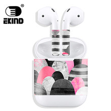 New Release Protective Vinyl EKIND Sticker earphone For Apple AirPods Skins Removable Adhesive Decorative Scratch Proof Films(China)