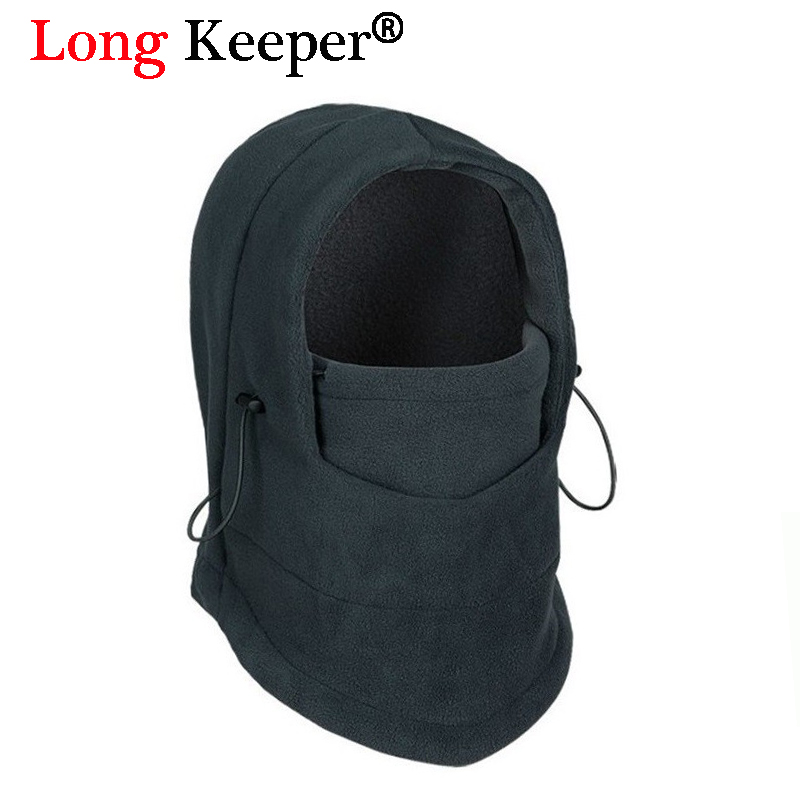 Long Keeper Winter Warm Fleece beanies hats for men skull bandana neck warmer balaclava face mask,Wargame Special Forces Mask face skullies beanies mask motorcycle fleece winter warm beanies hats colorful neck warmer