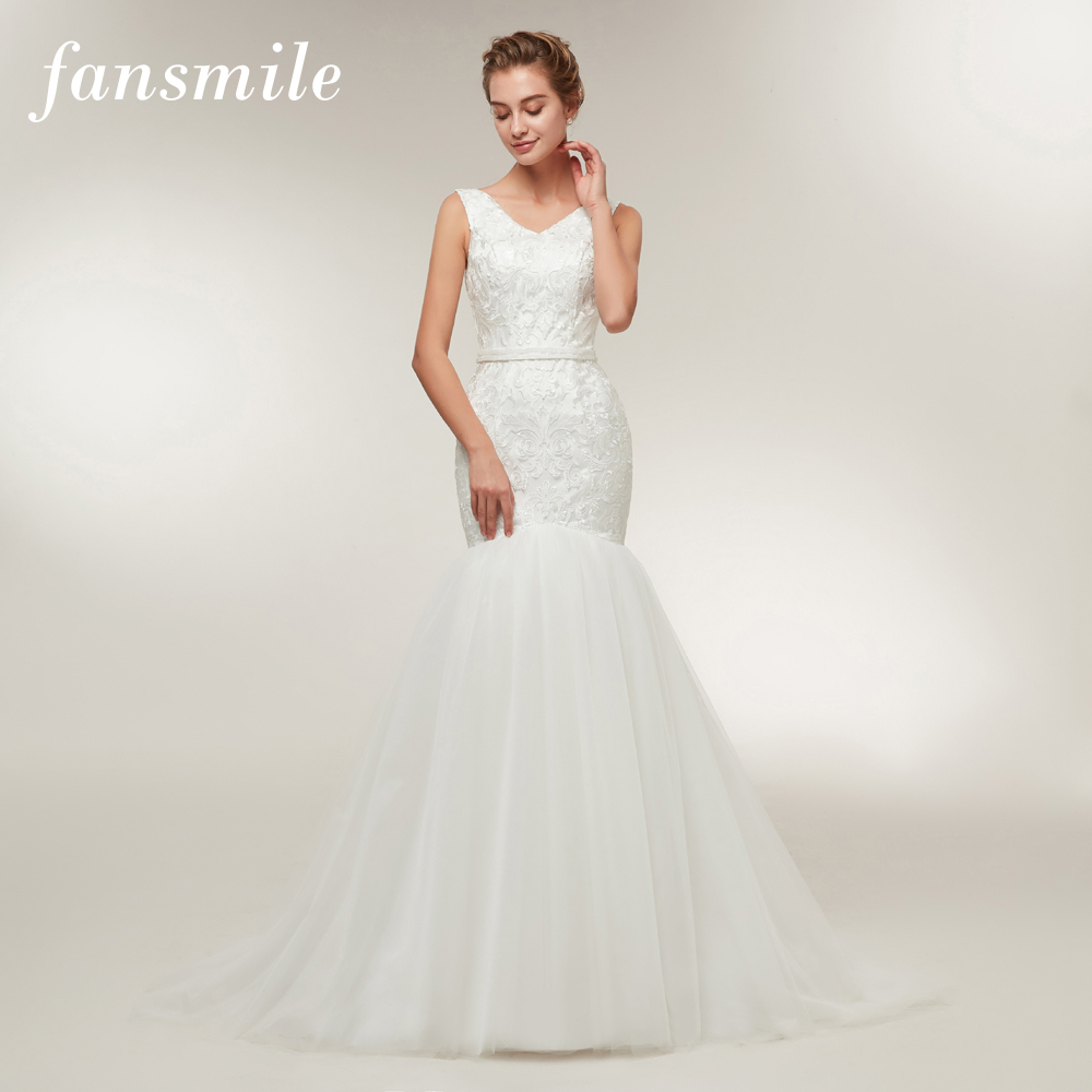 Wedding Dressing Gowns Personalised: Fansmile New Arrival Mermaid Wedding Dresses 2019 Vestido