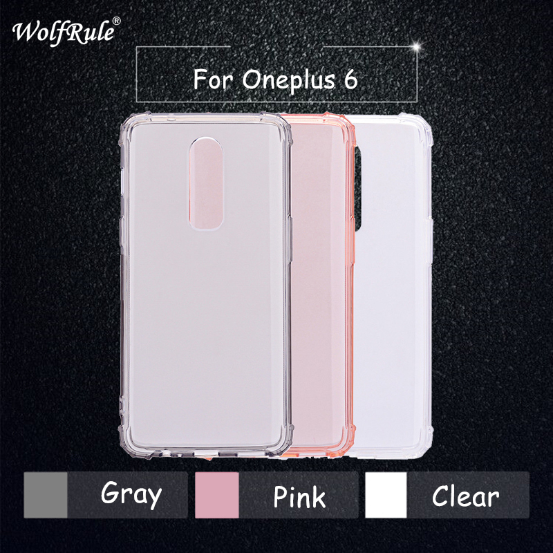 Oneplus 6 Case Original Wolfrule Oneplus 6 Cover Soft Transparent TPU Protective Funda Oneplus 6 Anti-knock Clear Case A6000