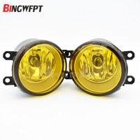 2x Left Right Set RH LH Side Car Styling 3000K Yellow Lens Fog Light Lamp Increase