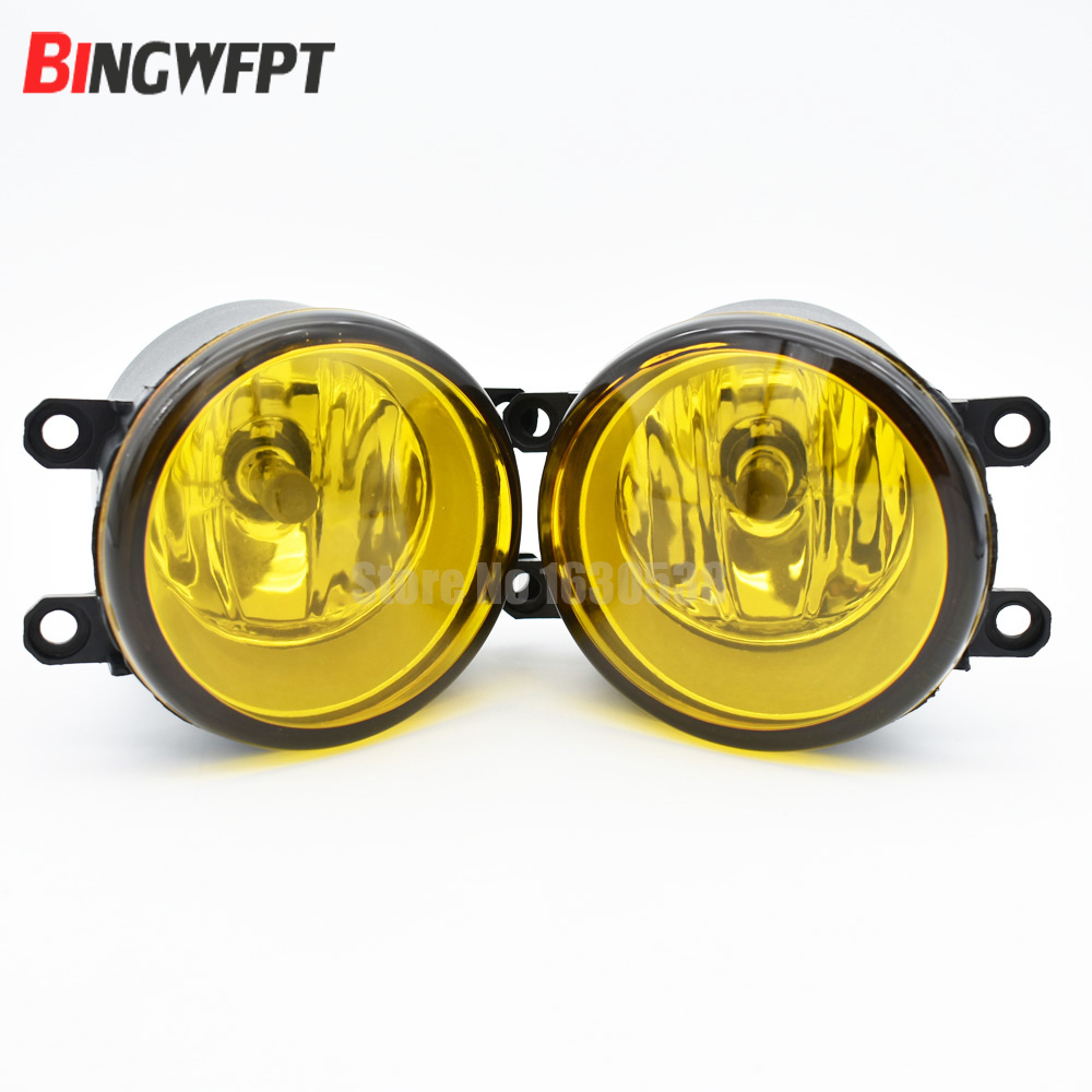 2x Left + Right/set RH LH Side Car Styling 3000K Yellow Lens Fog Light Lamp Increase Visibility For Lexus Toyota Scion xA fluorescence yellow high visibility