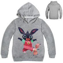 S Kids Bing Bunny Cartoon Print Hoodies Coats for Boys Girls Rabbit Long Sleeves Hoody Sweatshirts for Children Costumes s kids bing bunny cartoon print hoodies coats for boys girls rabbit long sleeves hoody sweatshirts for children costumes
