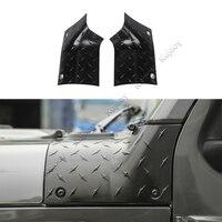 for Jeep Wrangler JL 2018+ ABS Black Car Engine Hood Cover Wrap Angle Decor Sticker Trim