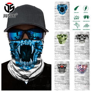 JIUSUYI Headband Skull Tube Scarf Bandana Men Women