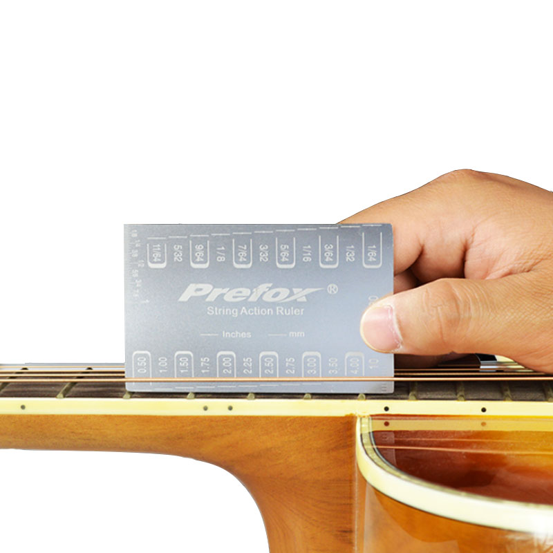 1db gitárhúr akciómérő húrmagasság-vonalzó mérőeszköz - Hangszerek - Fénykép 2