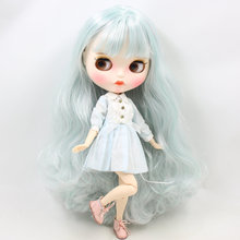 ICY Neo Blythe Doll Mint White Hair Jointed Body 30cm