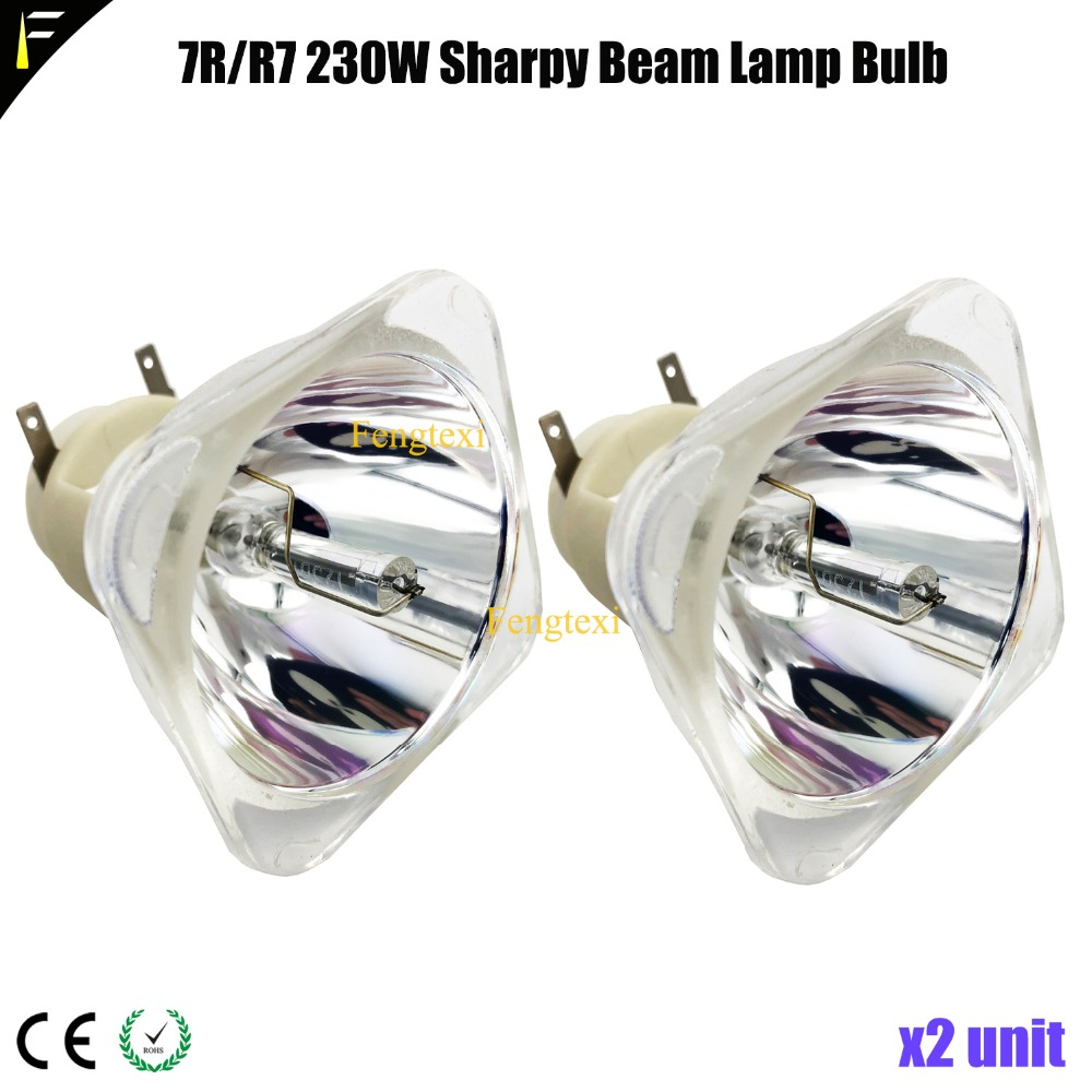 2units P VIP 230W E20 6 Spot Moving Head Light Lamp Bulb 7r r7 230watt 7R
