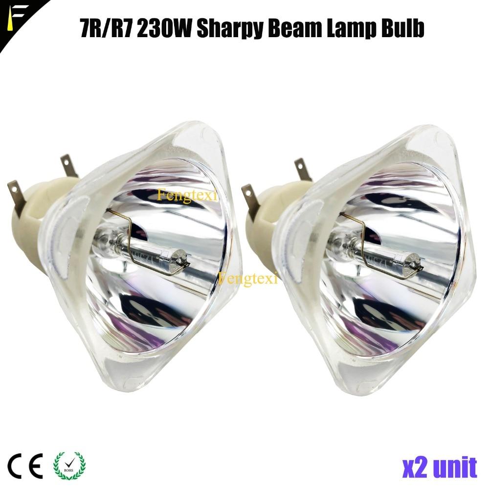 цена на 2units P-VIP 230W E20.6 Spot Moving Head Light Lamp Bulb 7r/r7 230watt 7R 230W Replacement Point Bulb Lamp Source