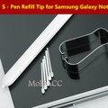 Оригинал запасной совет для Samsung Galaxy Note 5 / 4 / 3 стилус замена сиб для Samsung Galaxy примечание край с зажимом