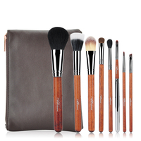 MSQ 8pcs Makeup Brushes Set Wooden Stick Make Up Brushes Soft Animal or Synthetic Hair Make Up Brushes Kit Tools For Beauty