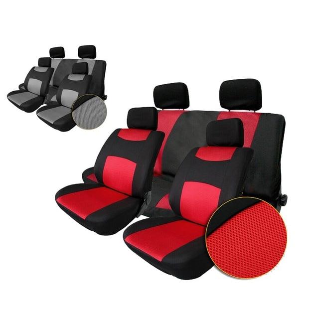 Auto Seat Cover Universal Sandwich Fabrics Car Seat Cover Set Four Seasons Auto Car Cushions Interior Accessories 10pcs