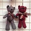 20cm 3 colors lovely teddy bear doll plush mini teddy bear pendant toys bag keychain toy soft stuffed cloth dolls for kids gift