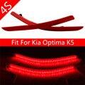 Acessórios do carro fit Kia Optima K5 2011 2012 2013 Freio Vermelho Luz da cauda LEVOU Choques Refletor Traseiro Vermelho Luzes de Advertência Parar Cauda nevoeiro
