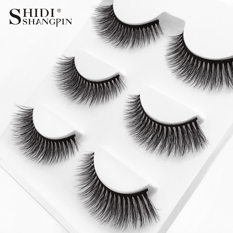 HTB1qWRiXOYrK1Rjy0Fdq6ACvVXa4 SHIDISHANGPIN 3 pairs mink eyelashes natural fake eye lashes make up handmade 3d mink lashes false lash volume eyelash extension