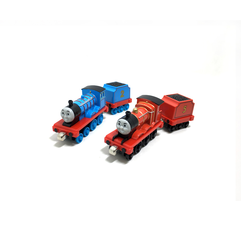 T0159 Diecast Magnetic THOMAS and friend Edward and James The Tank Engine take along tra ...