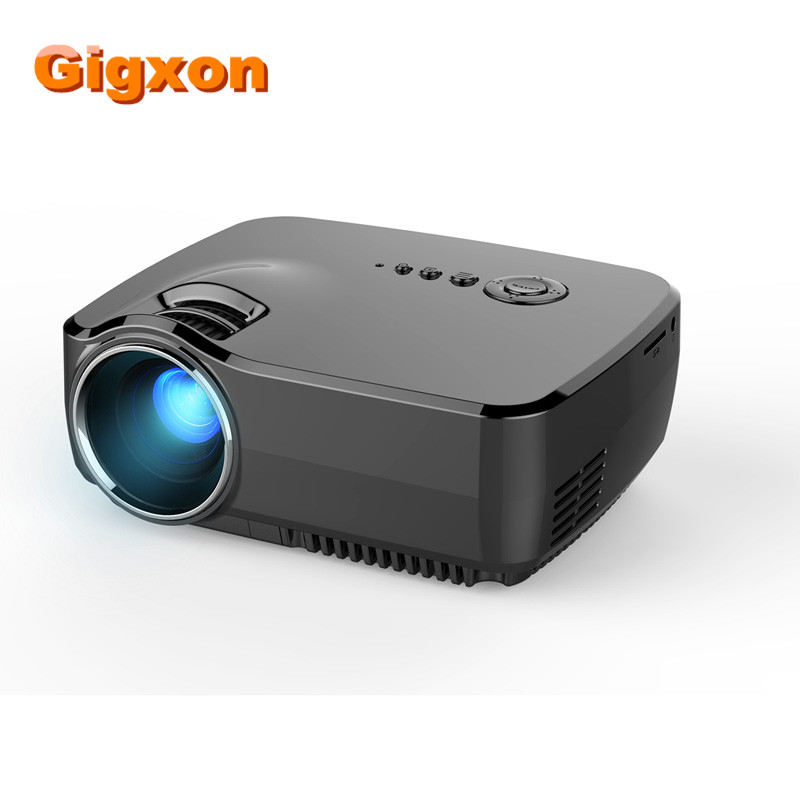Gigxon - G700 Mini Projector 1200 Lumens Multimedia Digital LED Movie Home Theater Full HD Proyector For Entertainment Projetor gigxon g700a android portable mini projector support full hd level 1920x1080pixels 1200 lumens led projector