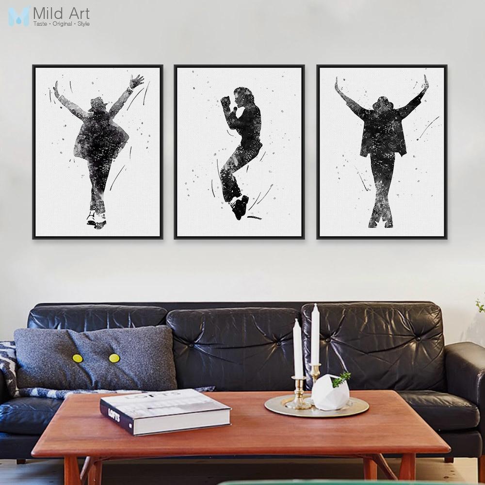 Black White This Is It Music Celebrity Michael Jackson Pop Star Art ...